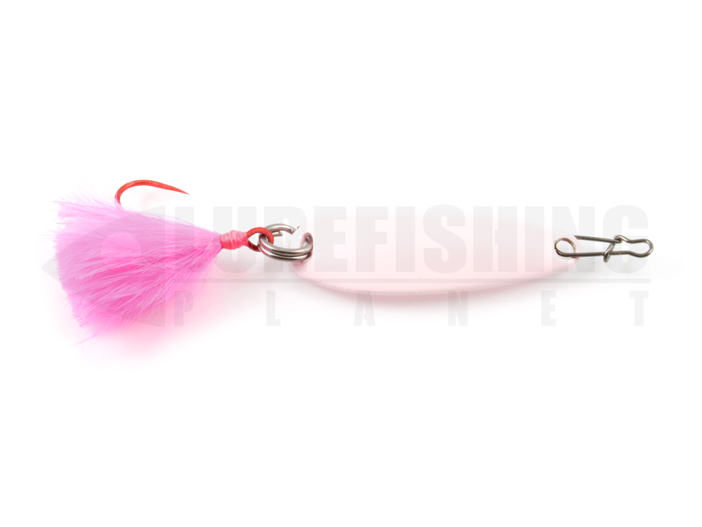 Esche metalliche ondulante spoon damiki craft cong spoon 001 light pink lure fishing planet.