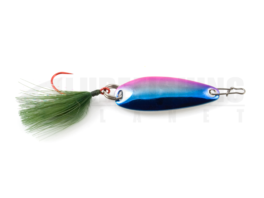 Esche metalliche ondulante spoon damiki craft cong spoon 008 rainbow lure fishing planet.