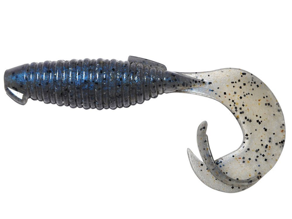 Esche-siliconiche-soft-baits-grub-curly-tail-keitech-flapper-grub-109-pro-blue-pepper-lurefishing-planet.