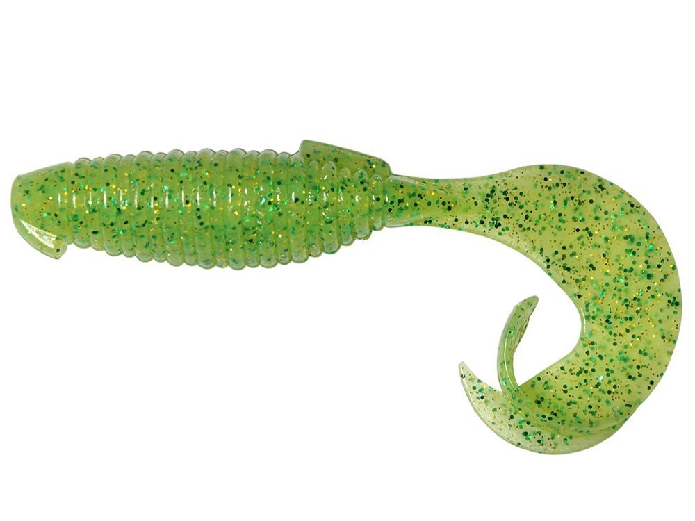 Esche-siliconiche-soft-baits-grub-curly-tail-keitech-flapper-grub-424-lime-chartreuse-lurefishing-planet.