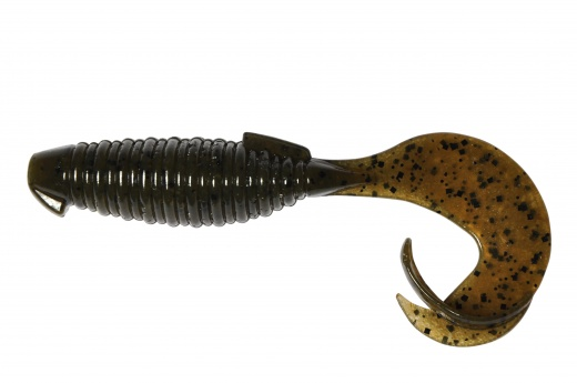 Esche-siliconiche-soft-baits-grub-curly-tail-keitech-flapper-grub-101-green-pumpkin-pp-lurefishing-planet.